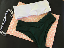 Load image into Gallery viewer, Emerald Green Cheeky Bikini Set