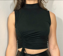 Load image into Gallery viewer, Larry Black Crop Top