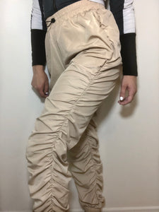 Danny Beige Pleated Joggers