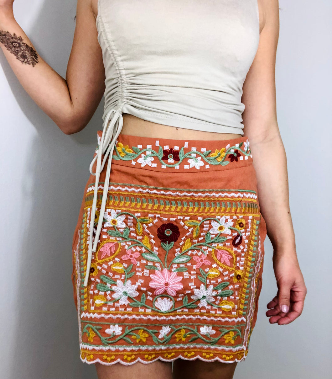 Leni Embroidered Skirt