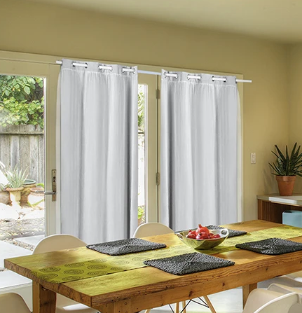 2X Blockout Curtains Panels With Gauze 9 Size