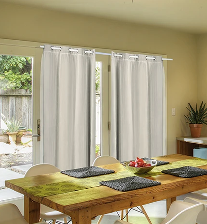 2X BLOCKOUT CURTAINS PANELS WITH GAUZE SIZE 9
