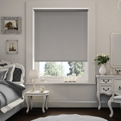 Modern Blackout Roller Blinds Commercial Quality Grey