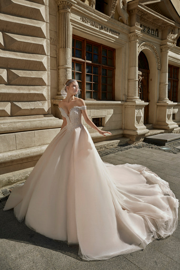 Handcrafted Luxury Sparkle,Crystals Custom Made Wedding Dress