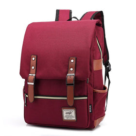 Women & men bag outdoor travel backpack women solid color vintage canvas school bookbags female bag personality women backpacks