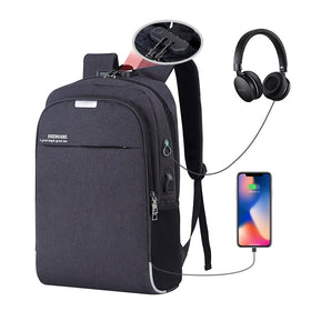 Laptop Backpack USB Charging 15.6 inch Anti Theft Women Men School Bags For Teenage Girls College Travel Backpack Male Bagpack