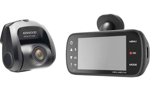 "Kenwood DRV-A501WDP 2-channel HD dash cam with 3"" display, Wi-Fi, GPS"