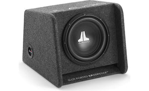 "JL Audio CP110-W0v3 BassWedge™ slot-ported enclosure with one 10"" W0v3 subwoofer"