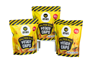 IRVINS Salted Egg Potato Chips - 3 PACK (3x3.7oz)