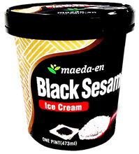 "Load image into Gallery viewer, MAEDA Ice Cream Pint ""Black Sesame"" (16 oz) - Konveny"