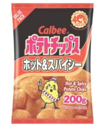 CALBEE Hot n Spicy Chips (7 oz) - Konveny