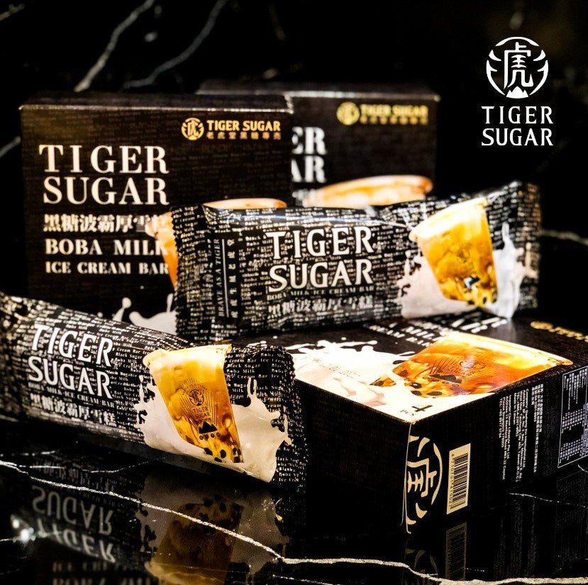 TIGER SUGAR Brown Sugar Boba Ice Cream Bar (box of 4 bars)