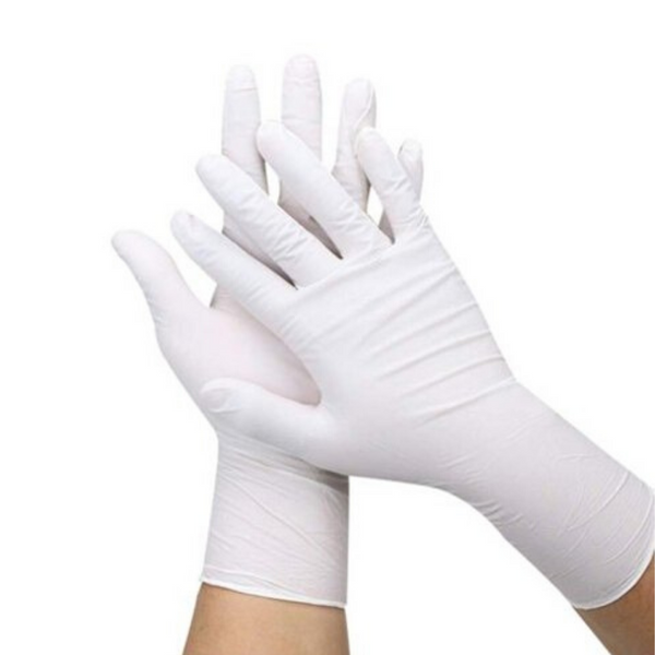 White Nitrile Powder Free Gloves (100 qty per box) Sizes Large, Medium