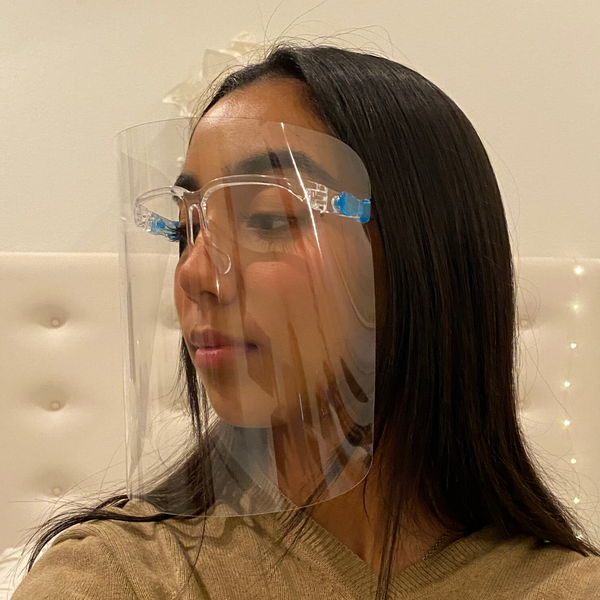Protective Face Shield, Fully Transparent