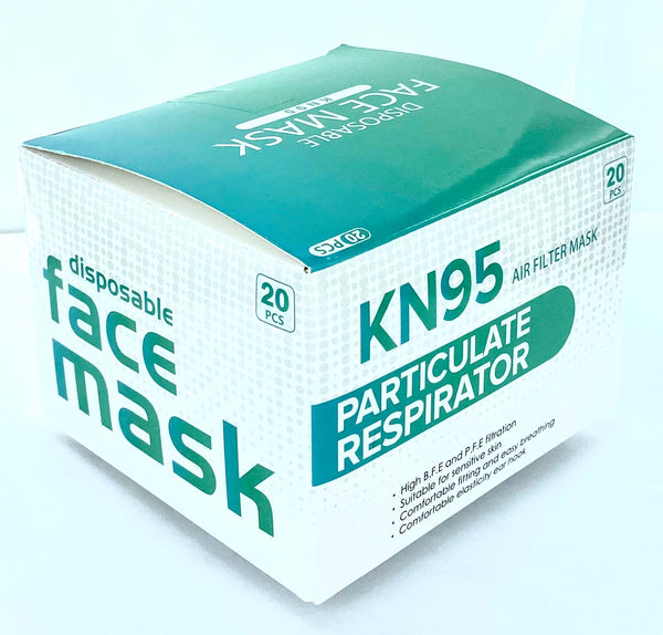 KN95 Masks - Individually Packed 5Ply (Wholesale Case of 60 Boxes)