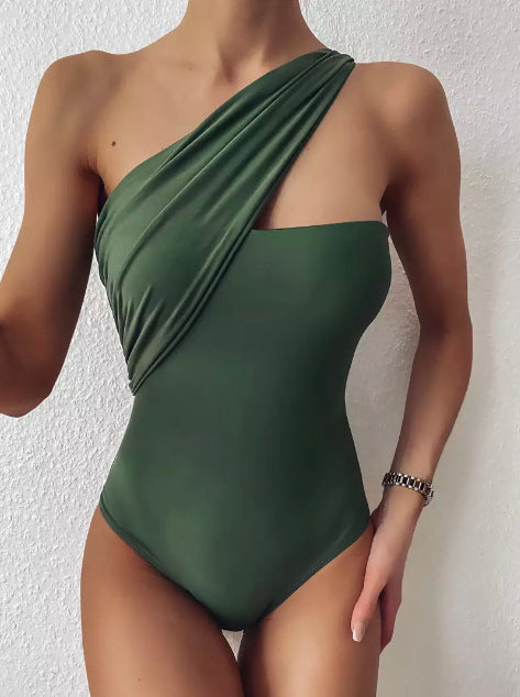 JESS ONE SHOULDER OPEN BACK SWIMSUIT