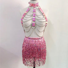 Load image into Gallery viewer, JOZI HARNESS SEQUIN TASSEL SET