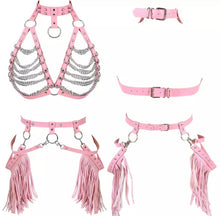 Load image into Gallery viewer, TILLY CHAIN HARNESS GARTER SET