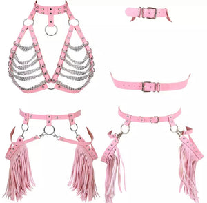 TILLY CHAIN HARNESS GARTER SET
