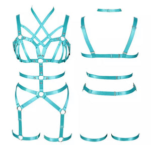 BRIA CAGED HARNESS STRAPPY LINGERIE