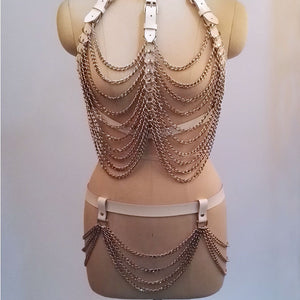 BOUNTY CHAIN HARNESS TASSEL SET