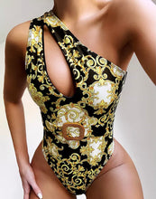 Load image into Gallery viewer, LOGAN ONE SHOULDER HOLLOW BELTED ONE PIECE