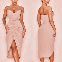 Load image into Gallery viewer, SHEILA STRAPLESS DRAPED DRESS