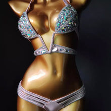 Load image into Gallery viewer, KINGSTON DEEP V CRYSTAL BIKINI SET
