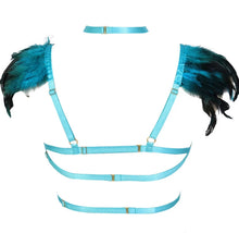 Load image into Gallery viewer, VETT FEATHER HARNESS LINGERIE SET