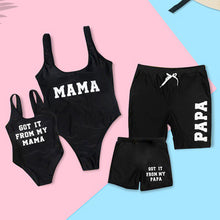 Load image into Gallery viewer, LETTERED MATCHING FAMILY SWIMSUIT SET