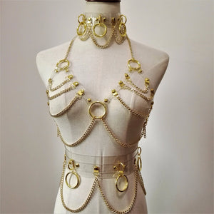 BONDII CLEAR STRAP CHAIN HARNESS SET