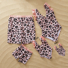 Load image into Gallery viewer, LEOPARD MATCHING FAMILY SWIMSUIT SET