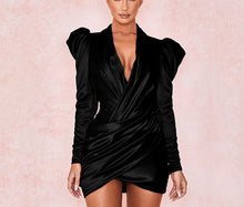Load image into Gallery viewer, RAFAEL PLUNGE WRAP LONG SLEEVE DRESS