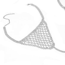 Load image into Gallery viewer, BABE CRYSTAL CHAIN BRA SET