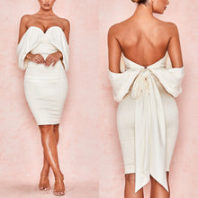 Load image into Gallery viewer, CARLITA OFF SHOULDER STRAPLESS FITTED DRESS