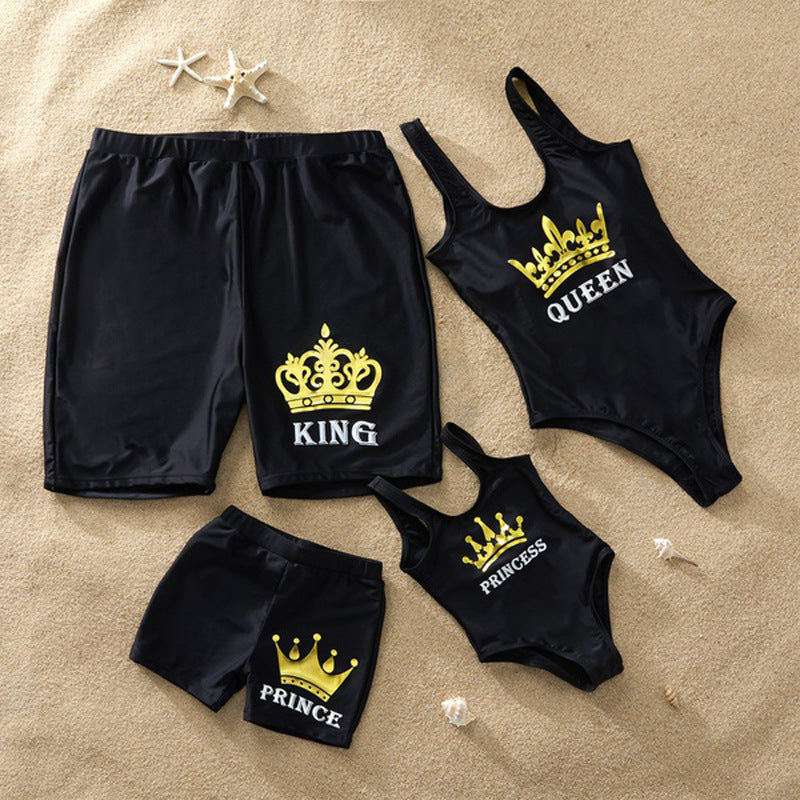 LETTERED MATCHING FAMILY SWIMSUIT SET
