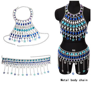 JENNA CRYSTAL TASSEL SET