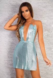 BENN PLUNGE METALLIC DRESS
