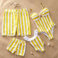 Load image into Gallery viewer, STRIPED MATCHING FAMILY SWIMSUIT SET