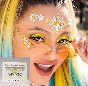 RAVE GIRL CRYSTAL FACE STICKER