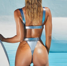 Load image into Gallery viewer, AMBER METALLIC BUCKLE MONOKINI