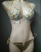 Load image into Gallery viewer, SHANNI CRYSTAL TASSEL BIKINI SET