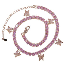 Load image into Gallery viewer, ELLA PREMIUM BUTTERFLY PENDANT TENNIS CHAIN