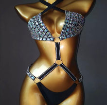 Load image into Gallery viewer, GLEEM CRYSTAL STRAPPY MONOKINI