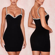 Load image into Gallery viewer, VERA CRYSTAL TRIM BANDAGE DRESS