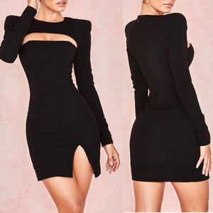 AKELA SLASH HOLLOW LONG SLEEVE DRESS
