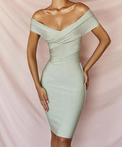 ANTON OFF SHOULDER BANDAGE DRESS