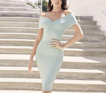 Load image into Gallery viewer, ANTON OFF SHOULDER BANDAGE DRESS