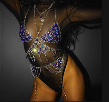 Load image into Gallery viewer, BATE JEWELED CHAIN BRALETTE TANK