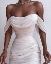 Load image into Gallery viewer, BELLE OFF SHOULDER DRAPED FITTED DRESS